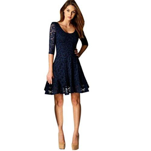LANSKIRT_Ropa de Vestidos Mujer Vestido Corto Formal Fiesta Encaje Floral Elegante Casual Recto Cóctel Maxi Noche Elegantes Mini Vestido
