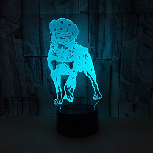 New dog 3d light colorful touch remote led night vision night vision festival gifts 3d night light novelty children table lamp