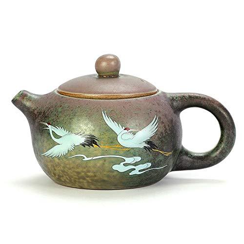 Tetera de cerámica13.5* 7.2Cm Retro Vintage Horno Cerámica Té Set Porcelana Tetera hecha a mano Hervidor 190Ml