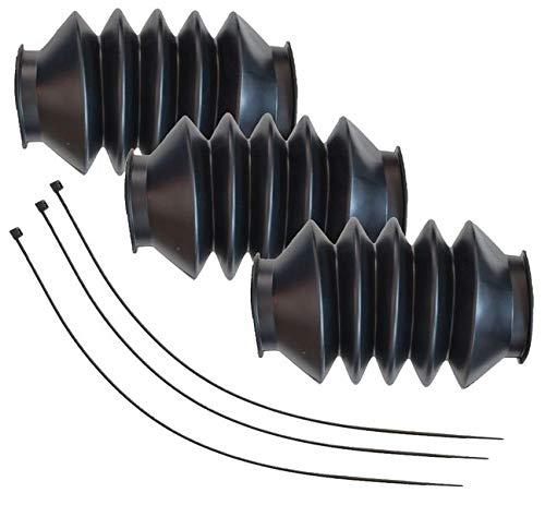 FKAnhängerteile 3 x Knott Faltenbalg Manschette für KF27A KFG27 KF30 KR30 etc. + Kabelbinder