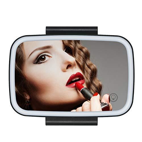KKmoon Espejo Maquillaje Coche,Visera Espejo Retrovisor Interior Coche con LED Táctil