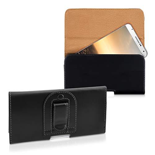 kwmobile Funda para Smartphone - Carcasa con Clip de cinturón - Cover de Cuero sintético 16.2 x 7.8 CM