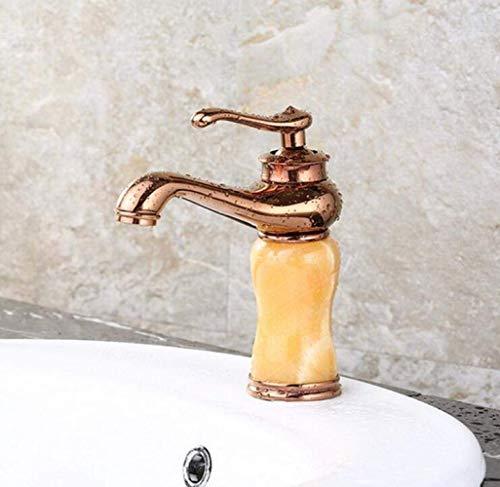 WY-YAN Limpiar todo Latón Estilo antiguo europeo orificio de caliente y frío de la cocina Cuarto de baño grifo de la ducha Boca de agua del grifo