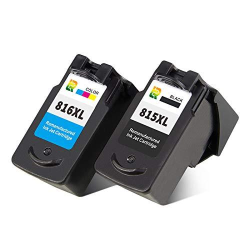 Cartuchos de tinta PG815XL CL816XL, repuesto para impresora de inyección de tinta Canon IP2780, MP288, MP259, 236, MX368, de alto rendimiento, combinación de color y negro