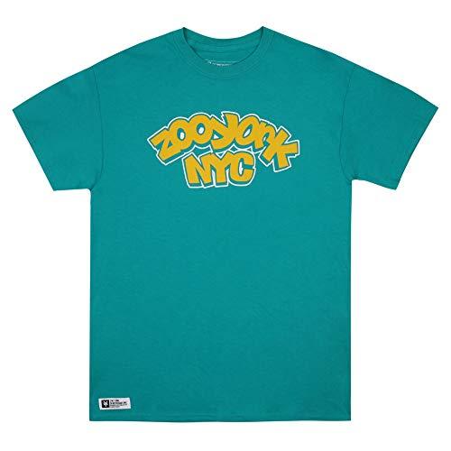 Zoo York Wildstyle Camiseta, Azul (Jade Dome Jad), Small para Hombre