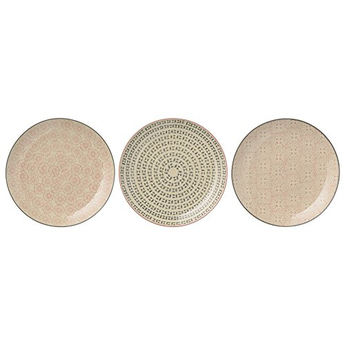 Bloomingville Teller Cécile 16 cm Durchmesser / 3er Set