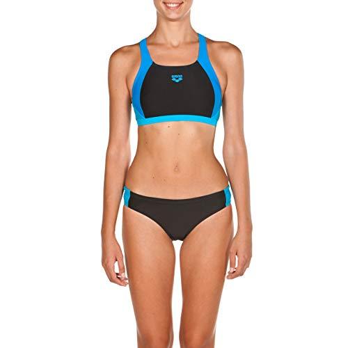 Arena Damen Ren Two Pieces Bikini, Black-Pix Blue-Turqu, 36