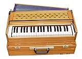 Maharaja Musicals, Folding Harmonium Instrument, In USA, Natural Color, Safri, 3 1/2 Octave, Coupler, Bag, Tuned To A440, Musical Instrument Indian (PDI-FFI)