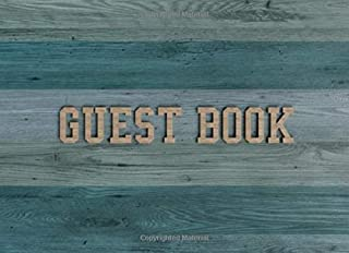 Guest Book: Guest Book for Vacation Home - 150 Pages - Blue Wood Edition
