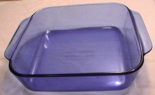 Corning Pyrex Cobalt Blue 8' X 8' Square Baking Pan #222