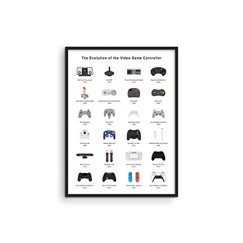 Retro Video Game Posters for Walls by Haus and Hues | Video Game Wall Art and Gamer Poster | Gamer Decor for Boys Room | Gamer Wall Art Video Game Prints | Game Room Decor UNFRAMED (Controller, 12x16)