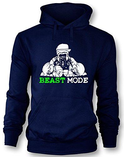 Angry Shirts Beast Mode - Gorilla - Herren Hoodie in Größe L