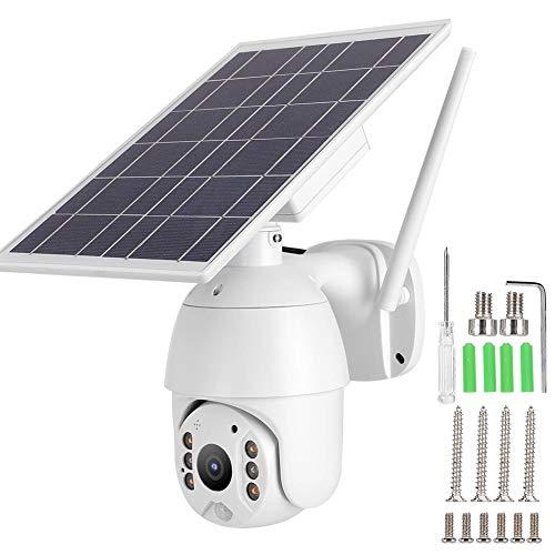 【-】 Intelligent telescopisch bewakingssysteem op zonne-energie, PTZ-camera, waterdicht, WLAN-alarm, voor binnen en buiten [DVD]