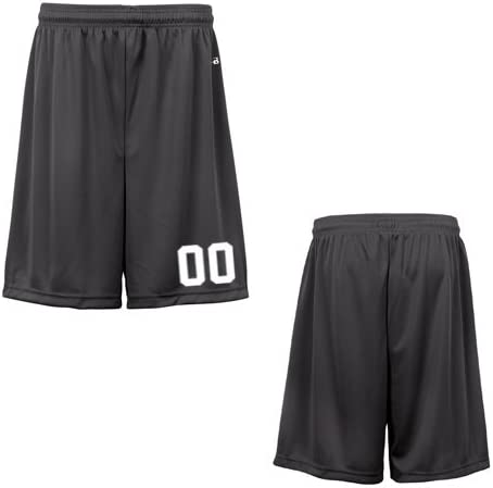 Graphite Youth XS (Custom with Uniform #) Athletic Wicking Sports Shorts