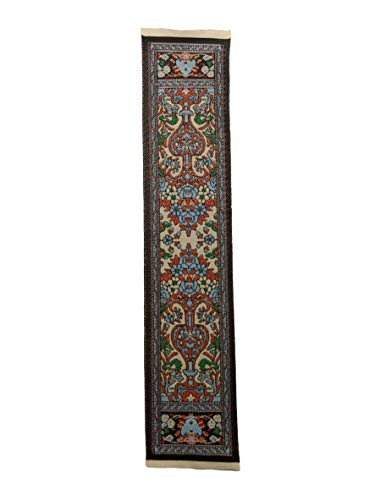 EQUAL EARTH Türkischer gewebter Ethno-Teppich Lesezeichen Seitenmarker Teppich dekorativer Kelim-Teppich – Design C