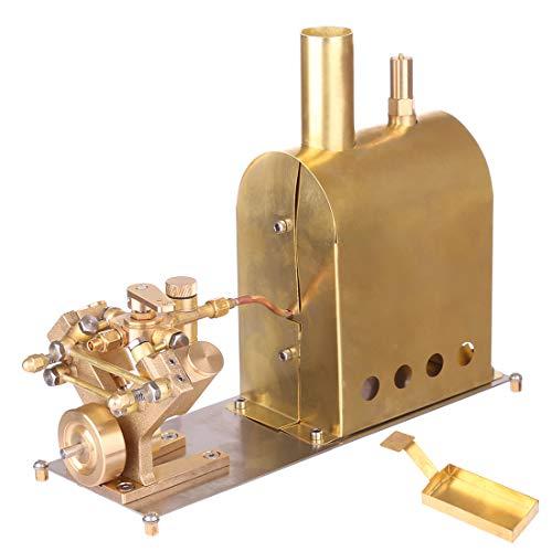 deguojilvxingshe Mini Pure Copper Dampfmaschine Modell mit Boiler, Modell Dampfmaschine Kits, Dampfmaschine Modellbau Kits Spielzeug Geschenk für Erwachsene