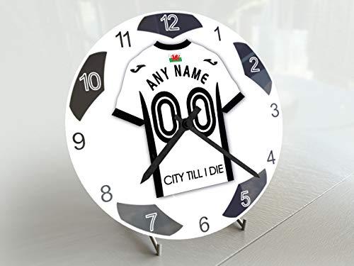 FanPlastic EFL Championship Kleine Fußball-Uhr – alle Teams, Fußball-Uhren-Stand-Design. !, FC Swansea City
