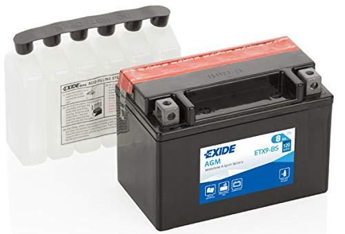 Batteria moto EXIDE ETX9-BS 8AH YTX9-BS 120N dimensioni 150X87X105