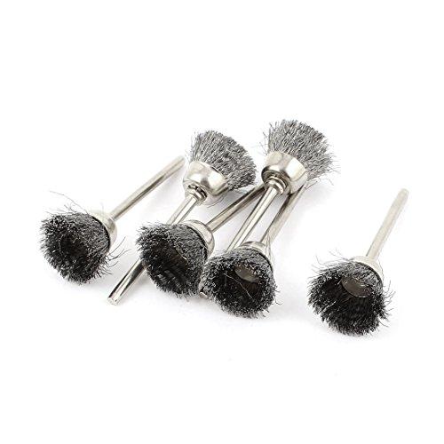 Aexit 6 Industriebürsten Stück 3mm Schaft 15mm Tasse Edelstahl Drahtpolierbürste für Industriebürstensätze Drehwerkzeug de