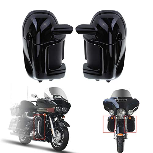 Ambience Nero/Balck dipinto inferiore sfiato gamba carene Glove Box per Harley Touring Road King FLHR FLHT Electra Glide (Black Painted)