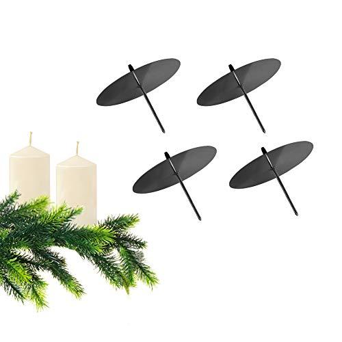 GoMaihe Kerzenhalter Adventskranz 4 Stück zum Stecken