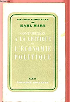 Paperback Contribution à la critique de l'économie politique [French] Book
