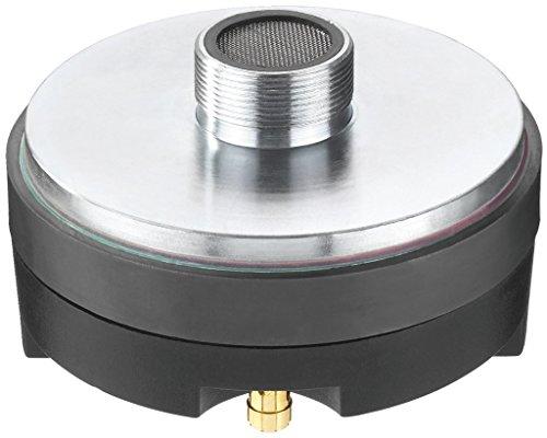 MONACOR MRD-44PA PA-Horntreiber, Treiber mit 35 mm Standardgewinde für die Bestückung und den Selbsteinbau in Lautsprecher oder Boxen, 45W, 8 Ohm, in Silber