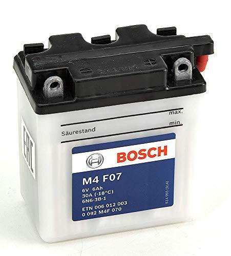 Bosch M4F07 Batería motocicleta 6N6-3B-1 - 12V Plomo 6A/h-30A