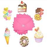 Tarjetas de postre del día de San Valentín y sobres con pegatinas (6 diseños, 36 unidades)