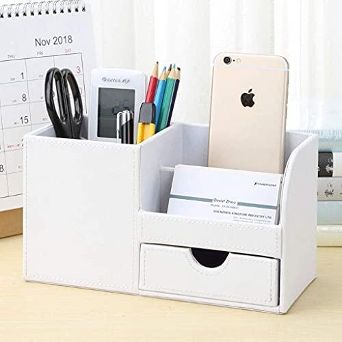 Ładny wielofunkcyjny uchwyt do przechowywania pulpenów biurowych Dostawy uchwyt na pióro Przechowywanie [Siedem kolorów] Bin pennhållare WSYGHP (Color : White, Size : Square)
