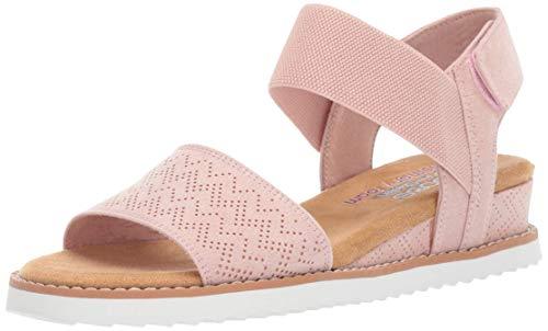 Skechers womens Desert Kiss - Stretch Quarter Strap Flat Sandal,...