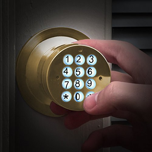 Signstek Electronic Keypad Door Knob Lock with Encryption Function, Gold