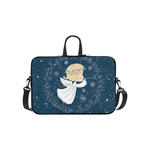 Christmas Engel trompete Muster Koffer Laptop Tasche Messenger Schulter Tasche Crossbody Handtasche für geschäftsreisen