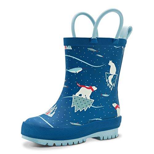 Product Image of the Baby Boy Natural Rubber Rain Boots (Size 5 with Elastic, Dinosaurs)