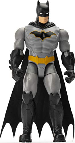 BATMAN Figura de acción de Batman Renacimiento de 10 cm con 3 Accesorios misteriosos, Misión 1