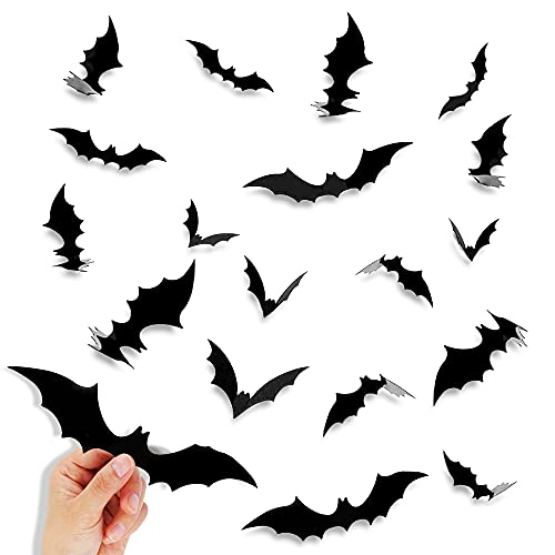 Halloween Decorations Bats Wall Decor, 80 Pcs 4 Sizes...
