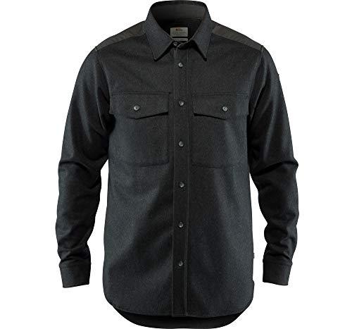 FJÄLLRÄVEN Övik Re-Wool Shirt Ls M T-Shirt à Manches Longues Homme Dark Grey FR: M (Taille Fabricant: M)