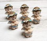 24 Praying Angels Boy or Girl Figure Figurine Statue Recuerdos de Bautizo Party Favors Religious Keepsake Baptism Baby Shower (Boy) -  Ooki®