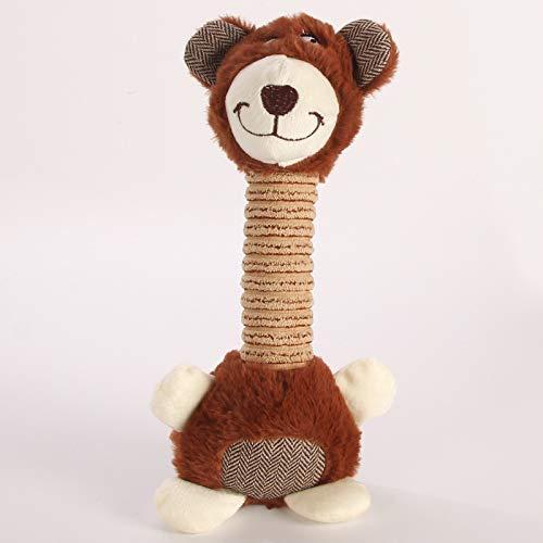 Long Neck Sillies Dog Toys (Brown Bear)