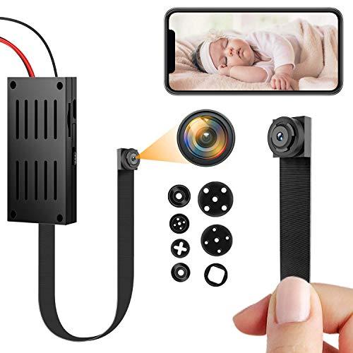 Mini cámara espía, 4K / 1080P HD WiFi Cámara Oculta Cámara inalámbrica portátil DIY Nanny cámara con detección de Movimiento Las cámaras de vigilancia