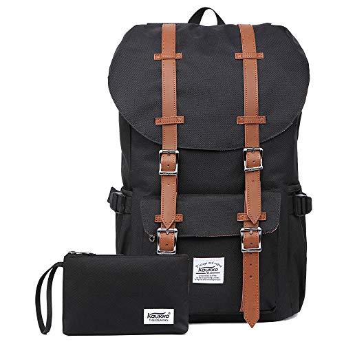 KAUKKO Rucksack für Städtetrips, Schule, Fahrrad und Wandertouren mit Laptopfach für 15 Zoll Notebook den täglichen Gebrauch, 22.4L