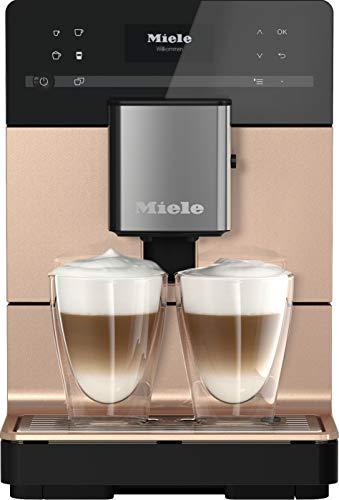 Miele CM 5510 Silence Stand Kaffeevollautomat / OneTouch for Two / Reinigungsprogramme / Genießerprofile / Kannenfunktion / cremiger Milchschaum / Roségold PearlFinish