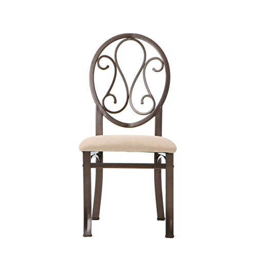 Lucianna Dining Chairs - Set of 4 - Dark Brown Frame w/ Beige Suede Seat