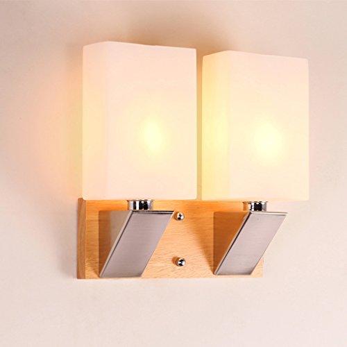 DLewiee Moderne Minimaliste Creative Glass Fashion Abat Led Applique Double Lampe Phare Salon Lampe Chambre Lampe De Chevet Lampe Balcon Escalier Lampe Corridor Lumière