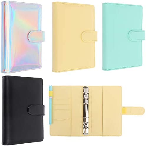 Xgood 4 Pieces PU Leather Notebook Binder Covers Artificial Leather Notebook Binder Refillable product image