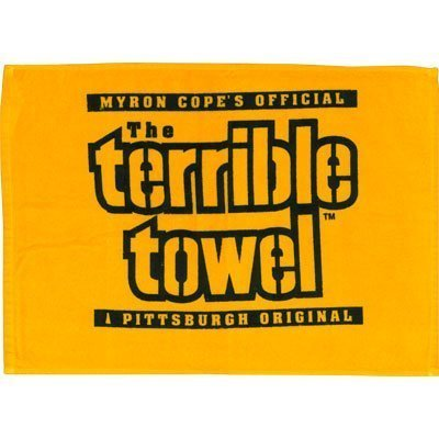 Steelers Terrible Towel - Yellow (Ships Within 24 Hrs - Excluding Weekends & Holidays) by PrivateLabel