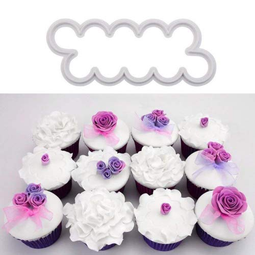 3pcs 3D Rose Petal Cake Cutter Cake Mold Silicone DIY Sugarcraft Cutters Icing Cake Decorations Cake Moulds