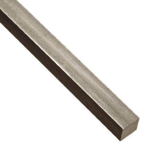 18-8 Stainless Steel Key Stock, Undersized Tolerance, 1/4' Thickness, 1/4' Width, 12' Length (Pack of 1)
