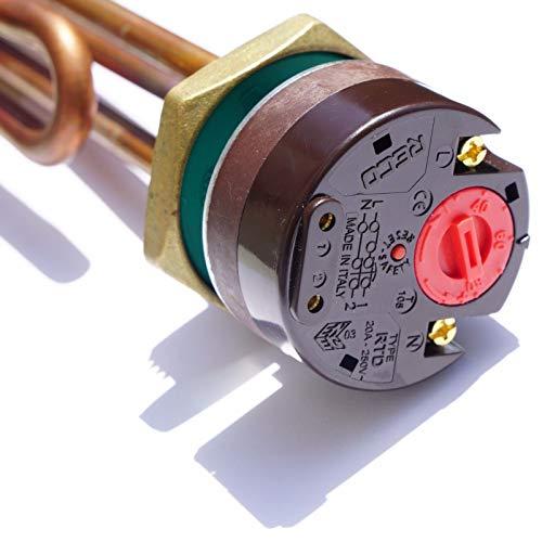 He Izelemen con termostato 1 1/4\ 5/4\ 3KW Nuevo Termostato de Seguridad Solar Caldera Caldera Caldera RECO