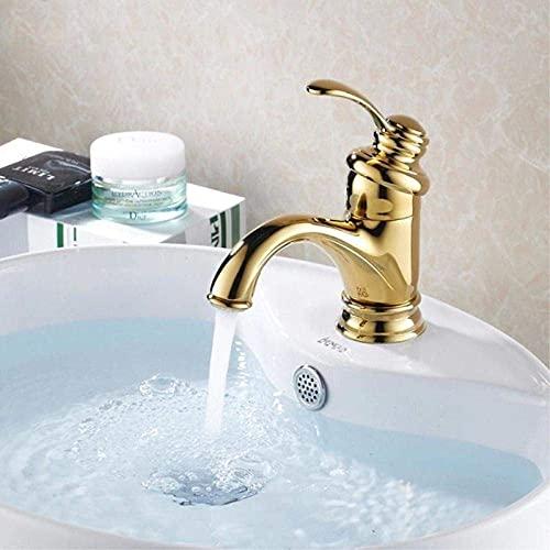 WXJLYZRCXK Faucet Dorado Moderno Moderno Montado Baño Fregadero Faucet Lavabo